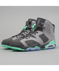 Jordan Air Jordan 6 Retro BG cmnt gry / grn glw - drk gry - grn g (basketbal)