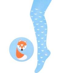 STEVEN Dětské punčocháče s liškou - modré
