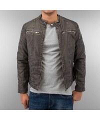 Just Rhyse Biker Leather Jacket Black