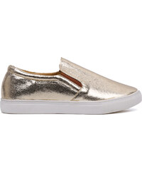 Lesara Sportlicher Slipper Metallic - Gold - 35