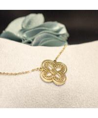 Lesara Halskette mit Kleeblatt-Anhänger - Gold