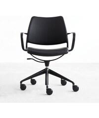 Židle na kolečkách Gas Swivel, černá/černá
