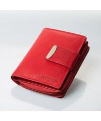 Dámská kožené peněženka Loranzo, Barva Červená Wild by loranzo V01