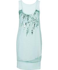 BODYFLIRT Kleid mit Pailletten ohne Ärmel in grün von bonprix