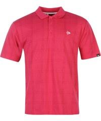 Sportovní polokošile Dunlop Check Golf pán. růžová