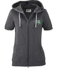 bpc bonprix collection Gilet sweat-shirt manches courtes noir femme - bonprix