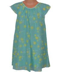 Topo Dívčí květované šaty - žlutozelené