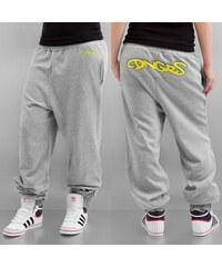Dangerous DNGRS Graffiti Ladies Sweat Pants Grey Melange/Blazing Yellow