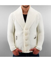 Just Rhyse Double Collar Cardigan White