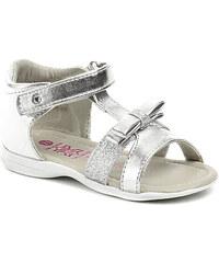 Dětská obuv Sprox 142551 stříbrné dívčí sandálky