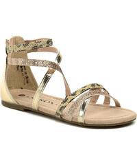 Dětská obuv Sprox 226481 béžové dívčí sandálky