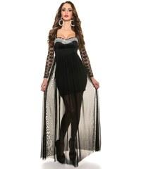 Koucla Černé plesové šaty dlouhé