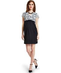 Happymum Bílo-černé těhotenské šaty Senza