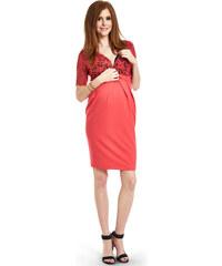Happymum Korálové těhotenské šaty Senza