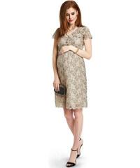 Happymum Béžové těhotenské šaty Midnight