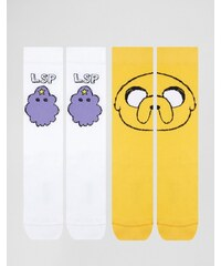 ASOS - Adventure Time - Lot de 2 paires de chaussettes à motif - Multi