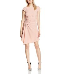 Closet Damen Kleid Gathered Waist V-back Asymmetric