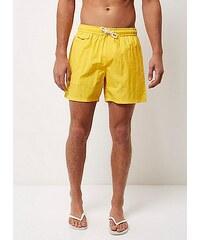 Zářivě žluté plavecké šortky s kapsami