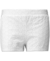C&A Shorts mit Lochmuster in Weiss