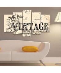 Insigne Vintage - 5-teiliges Bild - elfenbeinfarben