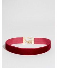 ASOS - Collier court basique en velours - Rouge
