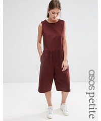 ASOS PETITE - Oversize-Overall mit geraffter Taille - Rot