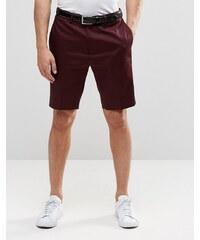 ASOS - Short skinny ajusté en coton satiné - Bordeaux - Rouge
