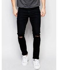 Only & Sons Black - Jean super skinny déchiré aux genoux - Noir - Noir