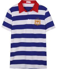 Lesara Gestreiftes Poloshirt - Blau - S
