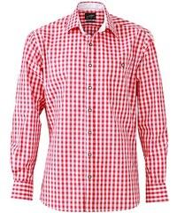 Pánská košile Cube - Červená a bílá S