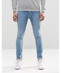LDN DNM - Jean skinny stretch à délavage moyen - Bleu