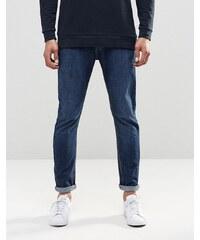 LDN DNM - Jean skinny stretch à délavage vintage usé - Bleu