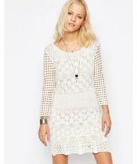 Only - Robe moulante en dentelle épaisse - Blanc
