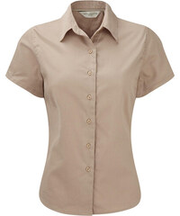 Dámská košile Classic s krátkým rukávem - Béžová XS