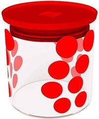 ZAK! designs - Dot dot dóza S 0,65 l, varné sklo/PP, červená (0078-850)