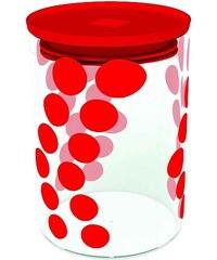 ZAK! designs - Dot dot dóza M 0,9 l, varné sklo/PP, červená (0078-860)