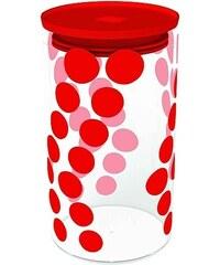ZAK! designs - Dot dot dóza L 1,1 l, varné sklo/PP, červená (0078-870)