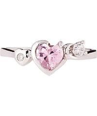 a-diamond.eu jewels s.r.o. (CZ) Prstýnek stříbrný růžové srdíčko spd548