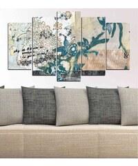 Insigne Abstraktes Bild 5-teilig - elfenbeinfarben