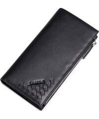 Dlouhá kožená pánská peněženka Sammons černá