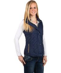 TopMode Stylová prošívaná vesta na zip modrá