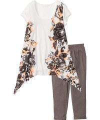 bpc bonprix collection Pyjama corsaire gris manches courtes lingerie - bonprix