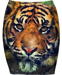 Mr. GUGU & Miss GO Bandeau Skirt Aquarelle Tiger