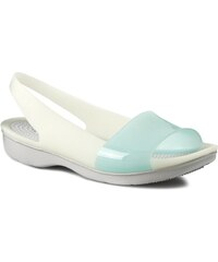 Sandály CROCS - Colorblock Flat W 200032 Sea Foam/Pearl White