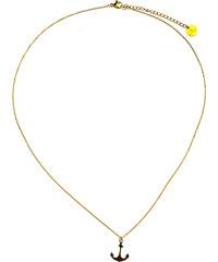 Lesara Edelstahl-Halskette mit kleinem Anker-Anhänger - Gold