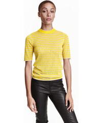 H&M Tričko z jemného úpletu