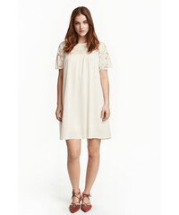 H&M Šaty s krajkovým sedlem