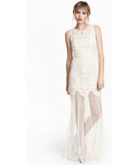 H&M Vyšívané tylové šaty
