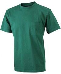 Pánské tričko Pocket - Temně zelená S