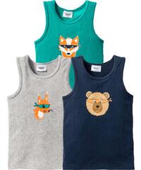 bpc bonprix collection Unterhemd (3er-Pack), Gr. 92/98-152/158 in grau für Jungen von bonprix